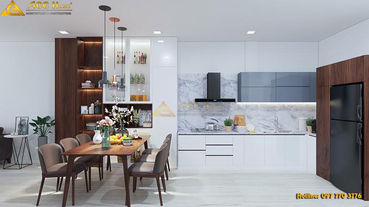 Thiết kế phòng bếp rộng