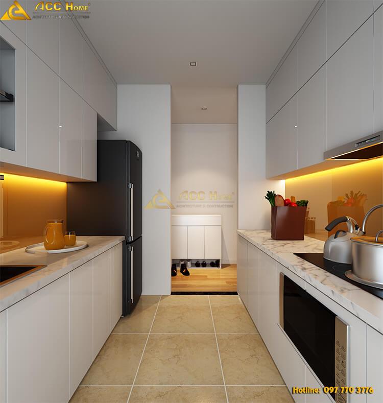 thiết kế nội thất phòng bếp nhỏ hẹp