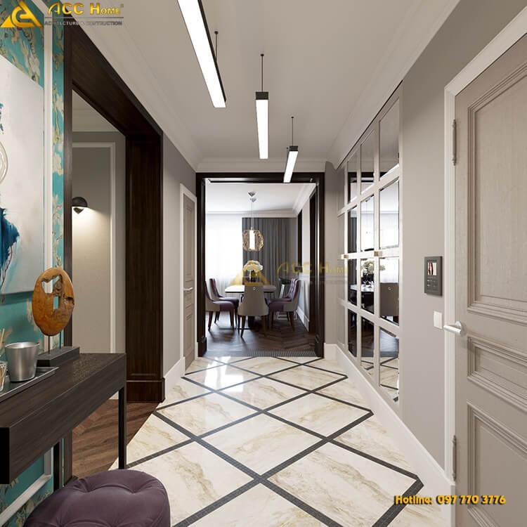 cách thiết kế nội thất phòng bếp hẹp