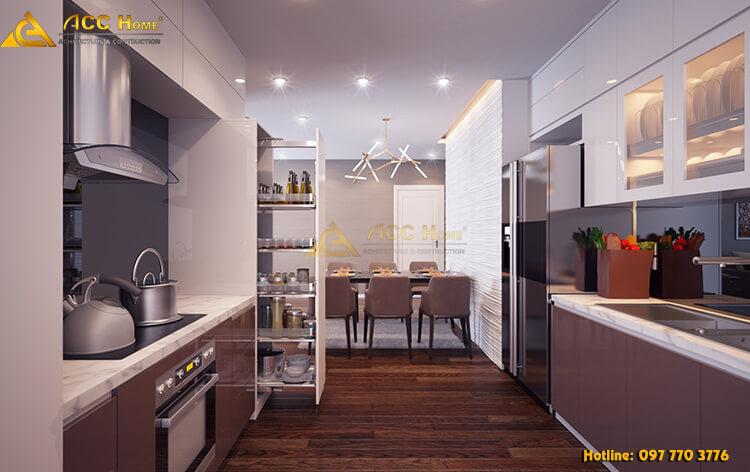 thiết kế nội thất không gian phòng bếp đẹp