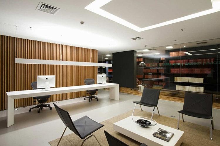 Mẫu thiết kế nội thất phòng giám đốc kết hợp phòng họp 32m2