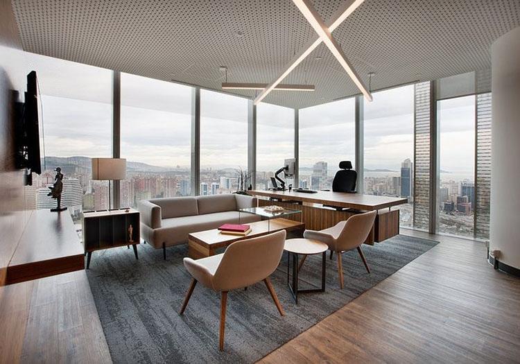 Bản thiết kế nội thất phòng giám đốc và phòng họp 35m2