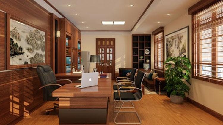 Thiết kế nội thất phòng giám đốc 25m2