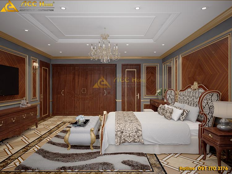 nội thất phòng master tân cổ điển