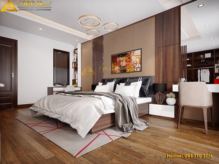 thiết kế phòng ngủ nhà phố nhỏ