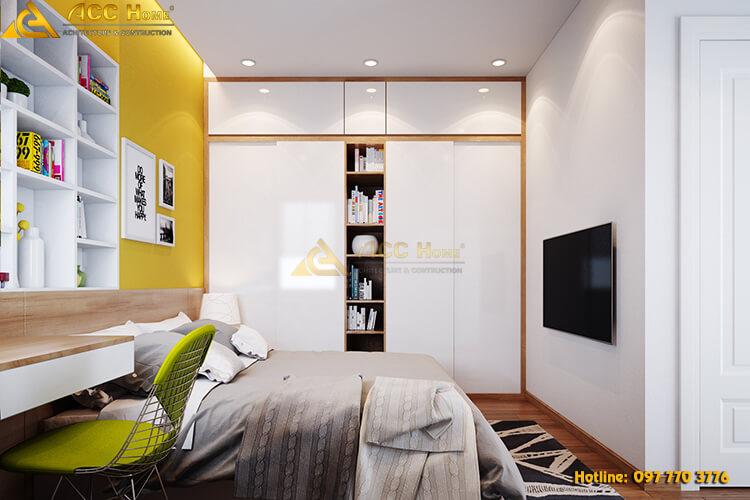 thiết kế phòng ngủ nhà phố tại Hà Nội