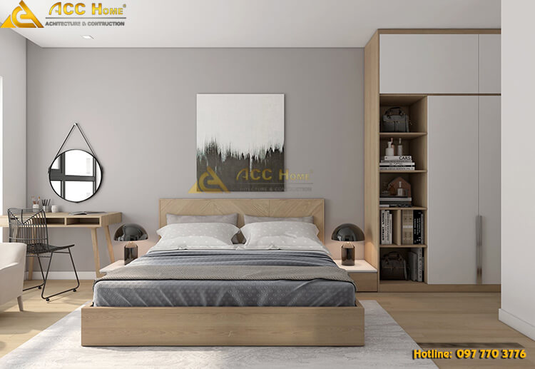 thiết kế phòng ngủ hài hòa
