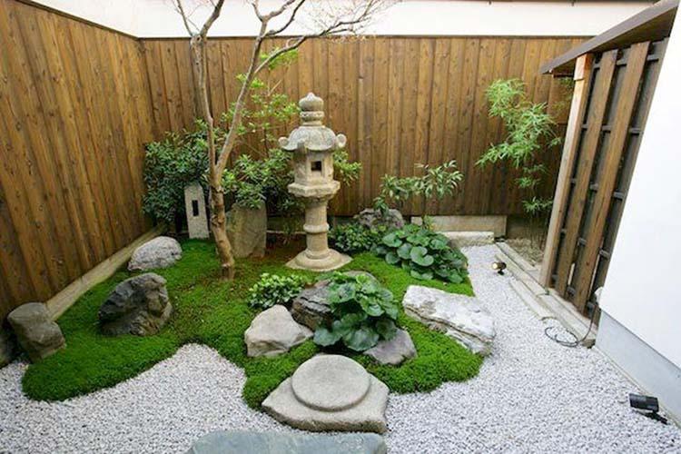 Tiểu cảnh sân vườn dạng Kim