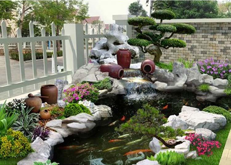 Mẫu sân vườn hành Thủy