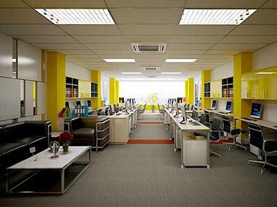 cách bố trí không gian văn phòng hiện đại