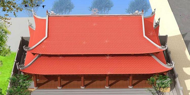 mẫu nhà thờ 8 mái đẹp