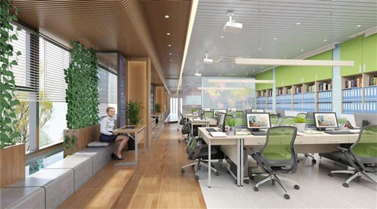 Thiết kế nội thất văn phòng với cây xanh