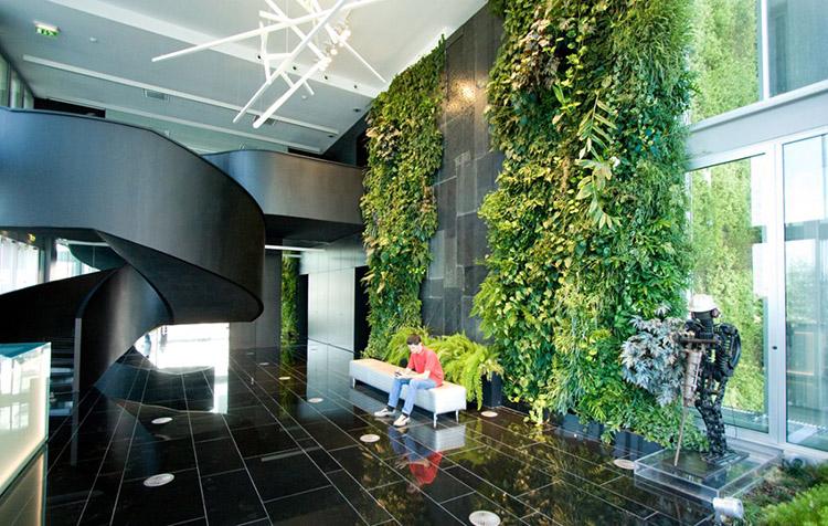 không gian văn phòng xanh