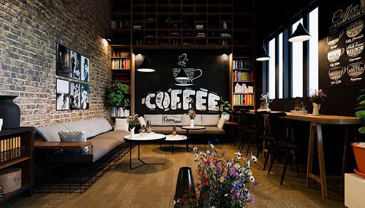 Không gian quán cafe nhỏ
