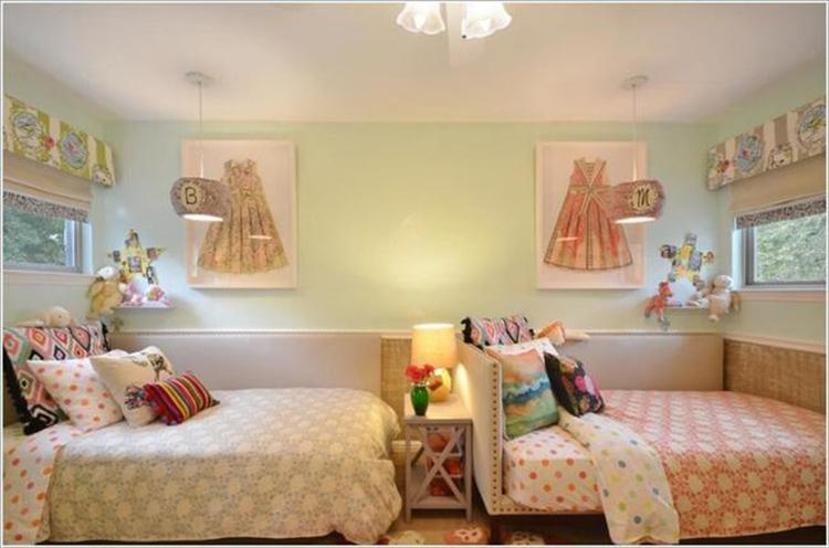 nội thất phòng ngủ cặp song sinh