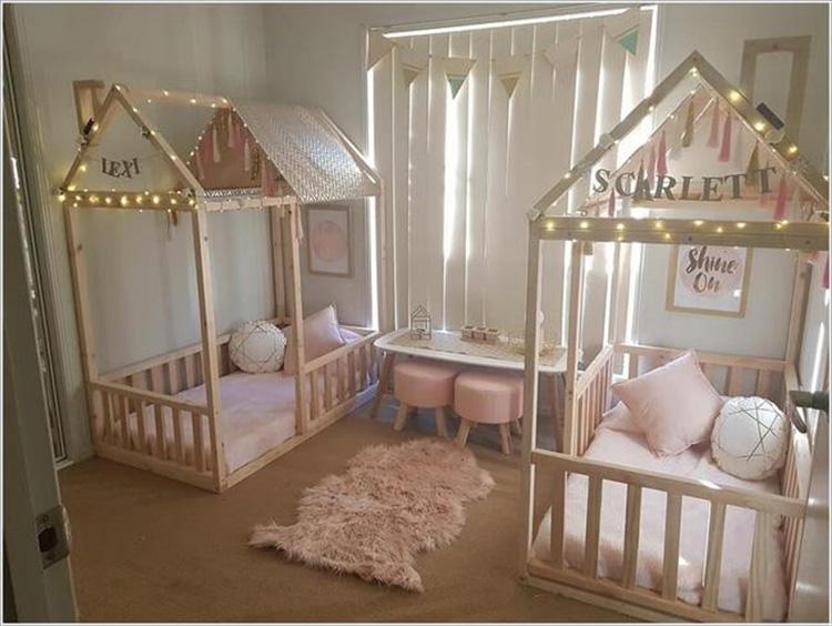 Mẫu phòng ngủ cho cặp song sinh
