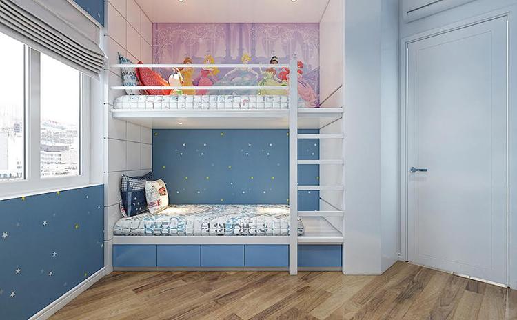 giường tầng cho anh em sinh đôi