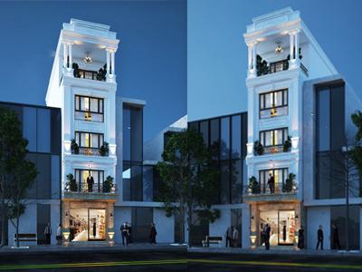 mẫu nhà 5 tầng
