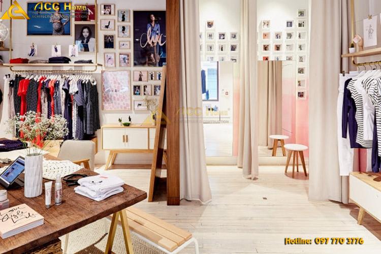Thiết kế shop theo phong cách tối giản