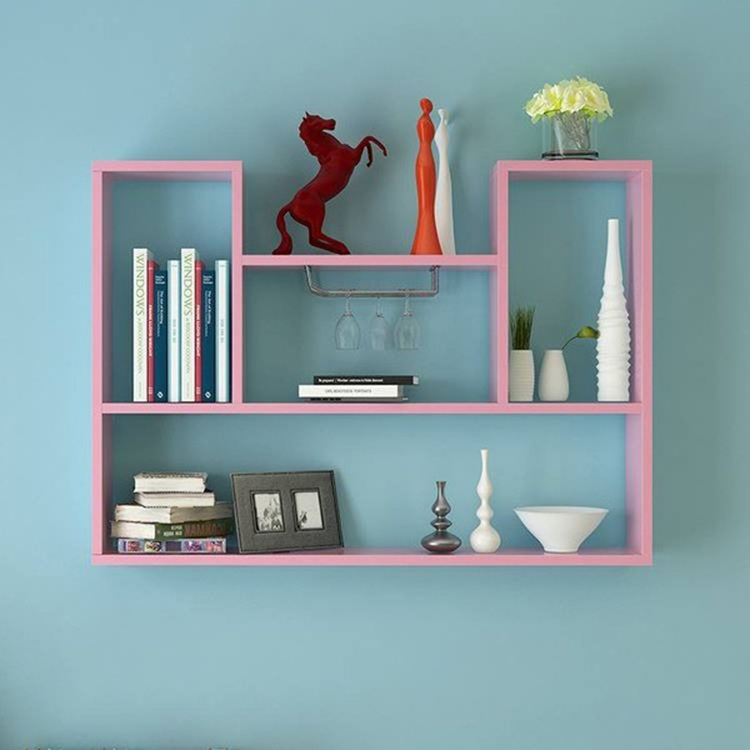 Kệ tường tone hồng