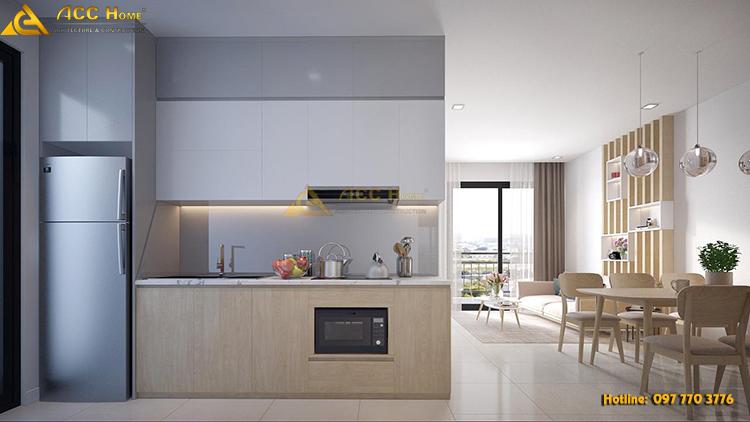 bếp nấu ăn cho căn hộ nhỏ