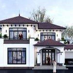 """<span class=""""title"""">Mẫu thiết kế biệt thự mái thái 2 tầng đẹp</span>"""