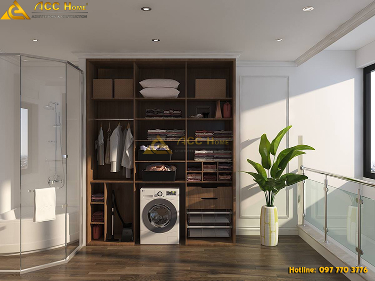phòng giặt quần áo