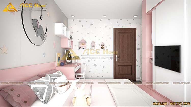 diện tích phòng ngủ con gái