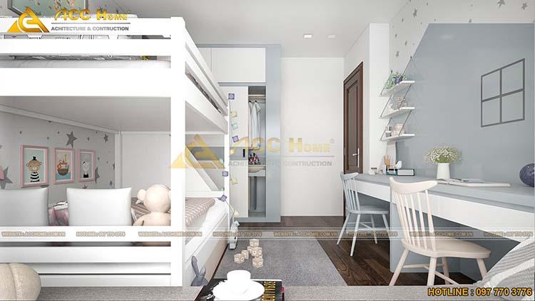 phòng ngủ 2 tầng