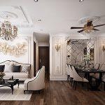 """<span class=""""title"""">Thiết kế nội thất chung cứ 120m2 tại Vinhomes smart city</span>"""