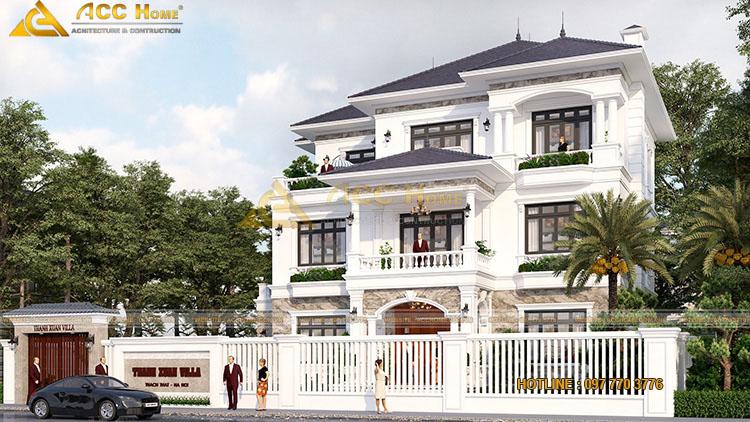 Thiết kế nhà mái nhật 3 tầng