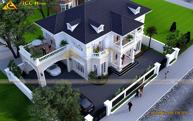 Hệ mái nhật của căn nhà 2 tầng