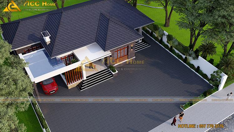 Căn nhà sử dụng hệ mái Nhật
