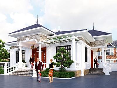 Thiết kế nhà mái nhật 3 phòng ngủ