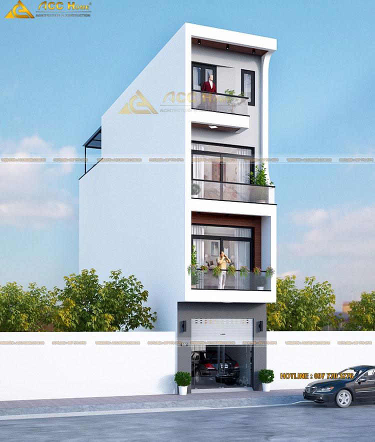 Phân chia công năng nhà 4 tầng