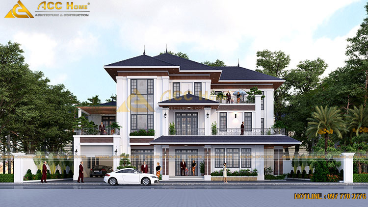 Yêu cầu của chủ đầu tư thiết kế nhà 3 tầng 240m2